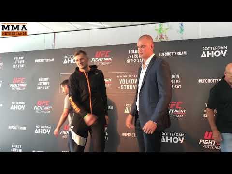 Face off: Alexander Volkov vs. Stefan Struve at UFC Rotterdam (Media day 31-8-2017)