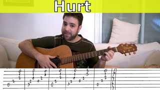Fingerstyle Tutorial: Hurt - Guitar Lesson w/ TAB