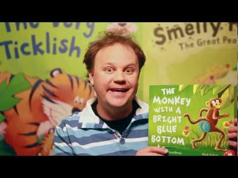 Justin Fletcher reads 'The Monkey With a Bright Blue Bottom'