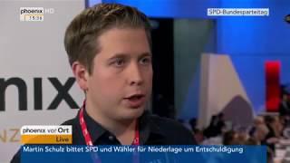Kevin Kühnert beim Bundesparteitag der SPD am 07.12.17