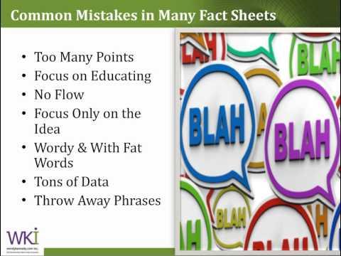 how to write a fact sheet