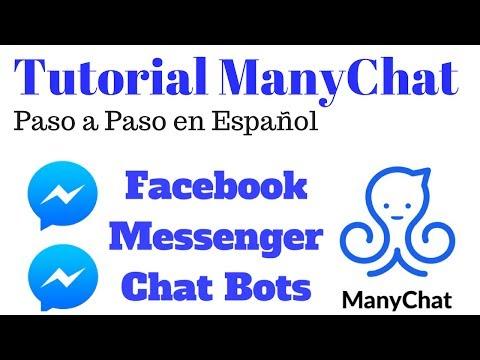 Tutorial Manychat Paso A Paso En Español Facebook Bots Chatbots Facebook Messenger Robot