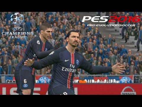 PES 2016 UEFA Champions League Gameplay - Paris Saint-Germain F.C. vs Chelsea F.C 2016