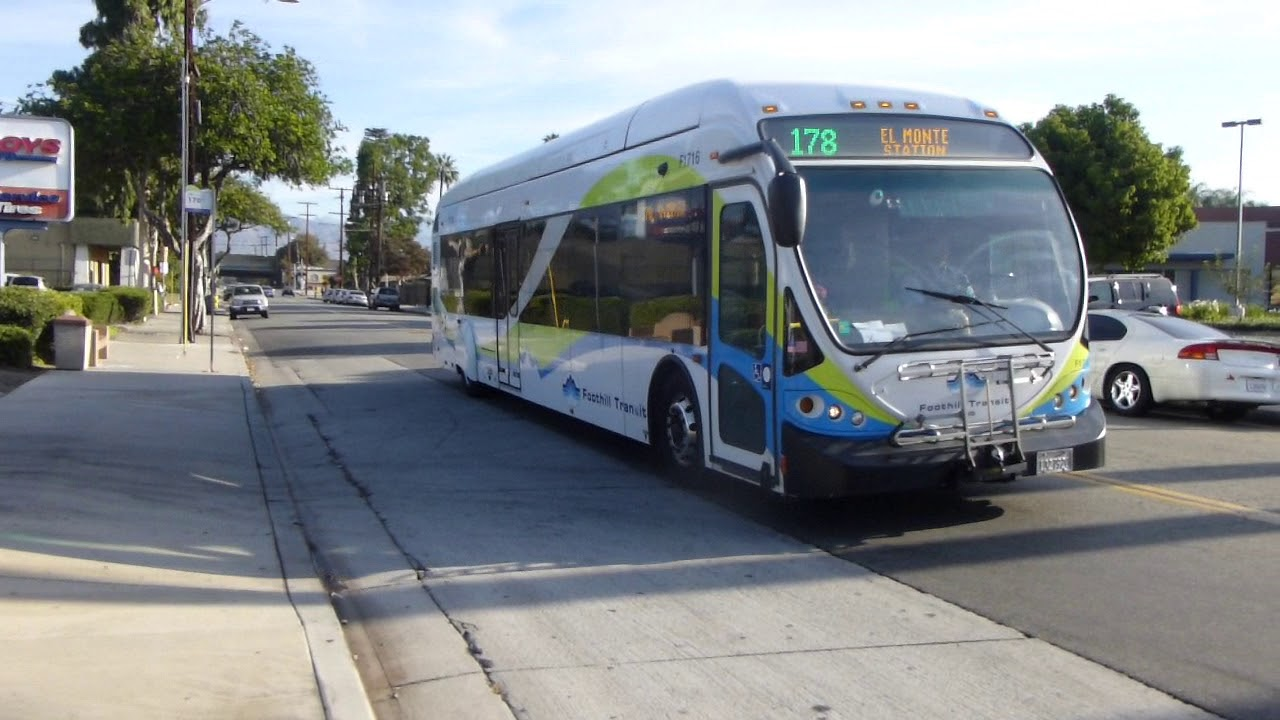 Foothill Transit Ca 2009 Nabi 42 Brt Cng Route 178 Bus