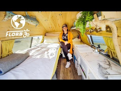 This Spearfishing Freediver Built an Incredible Home on Wheels in Her Ford Truck