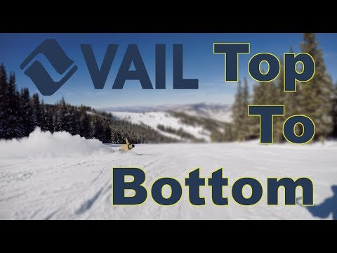 Vail Opening Day 2018 2019 Chair 4 Top To Bottom Run #snowboarding #skiing #colorado #vail