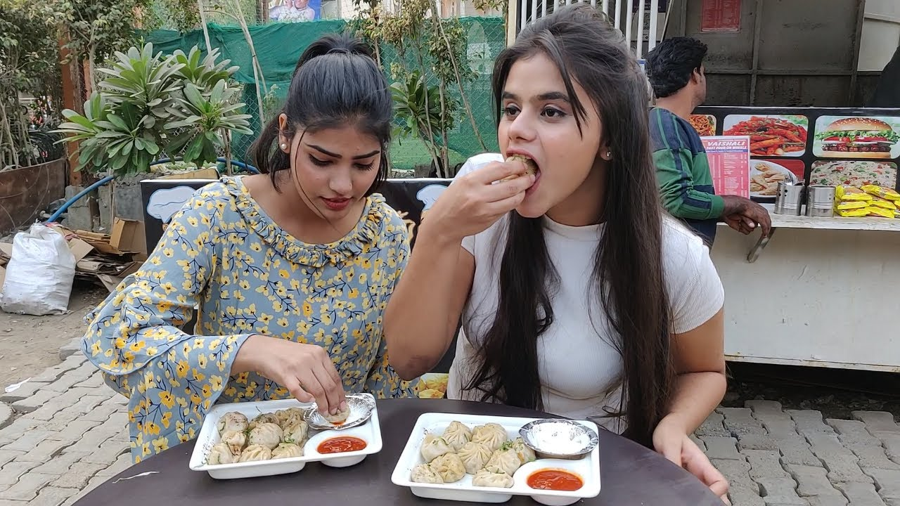 Momos Eating Challenge   Momos Eating Competition   Food Challenge
