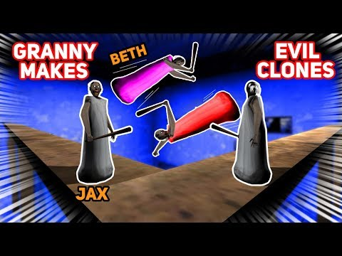 Granny Makes EVIL COPIES OF JAX AND BETH!!! (Very Powerful)   Granny The Mobile Horror Game (Story)