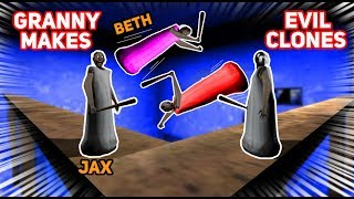 Granny Makes EVIL COPIES OF JAX AND BETH!!! (Very Powerful) | Granny The Mobile Horror Game (Story)