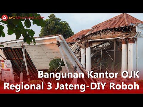 [Video] Bangunan Kantor OJK Regional 3 Jateng-DIY Roboh