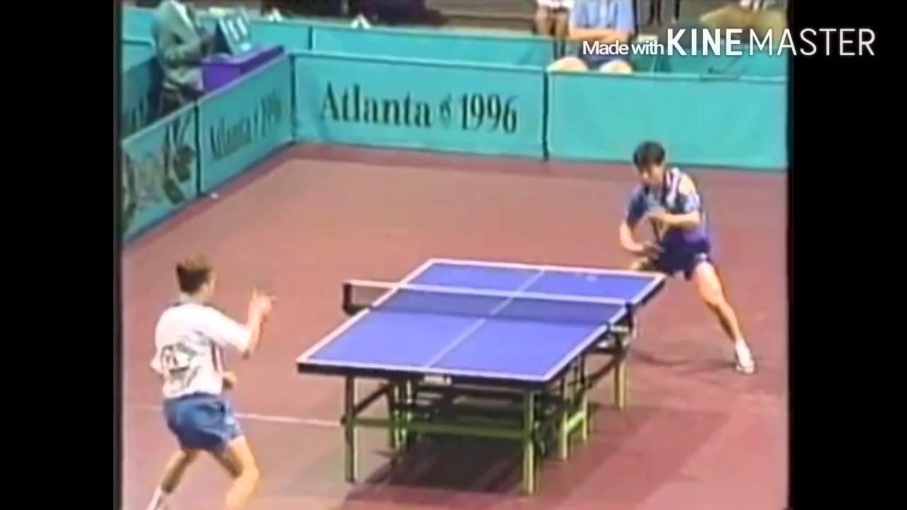 Table Tennis Olympic 1996 J O Waldner Vs Jonny Huang Highlights   YouTube