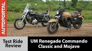 UM Renegade Commando Classic and Mojave - Test Ride Review - Autoportal