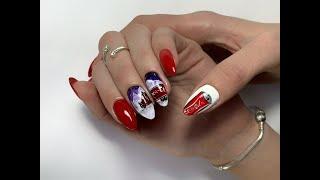 Новогодний дизайн ногтей Аппаратный маникюр Зимний дизайн ногтей 2020