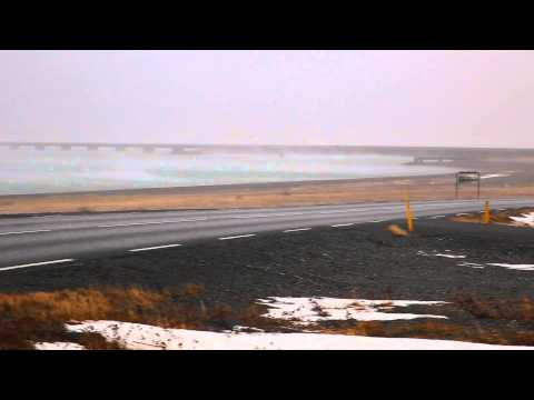 Strong winds in Iceland (flying rocks)