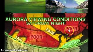 Look ! Northern Lights Aurora Visible Tonight !