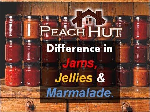 Difference between Jams Jellies and Marmalade - YouTube