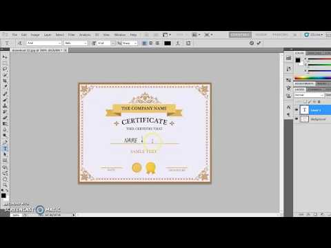 How To Remove & Add Text In Image Photoshop CS3 HD