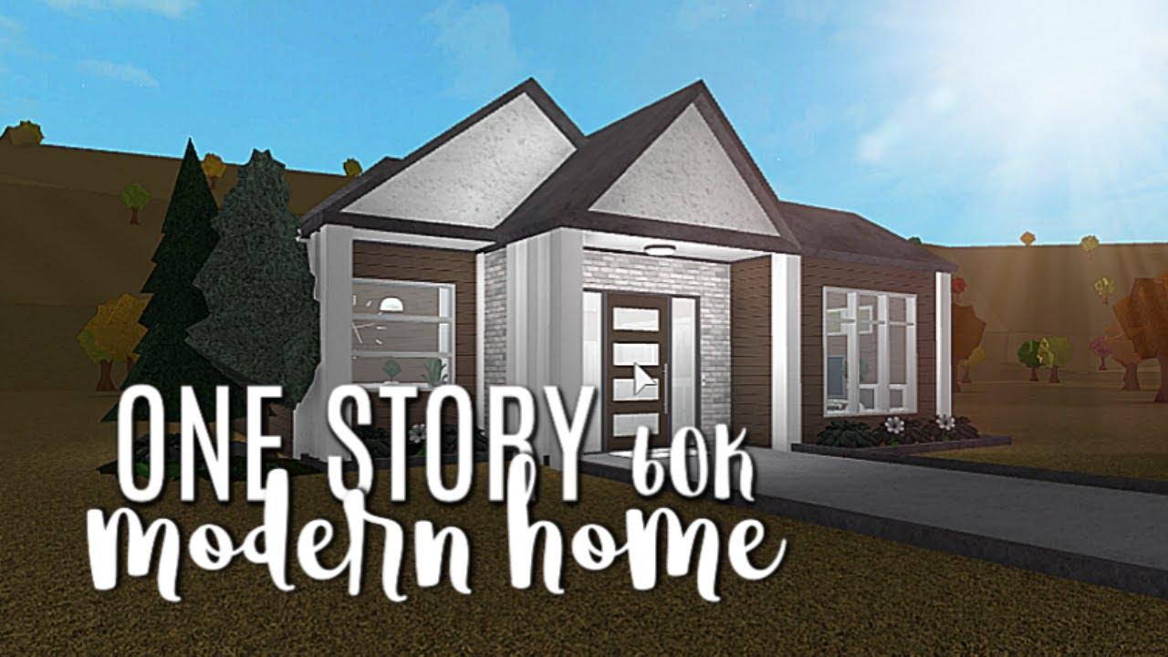 Roblox Bloxburg One Story House Roblox Bloxburg One Story Modern Home 60k Youtube