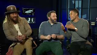 Sarina Bellissimo interviews Jason Momoa, Ben Affleck & Ray Fisher (JUSTICE LEAGUE)