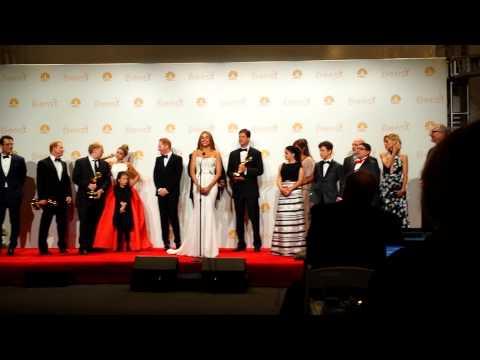 Gold Derby Emmy Awards 2014: Modern Family in press room.