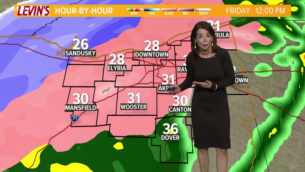 morning weather forecast for northeast ohio  january 12