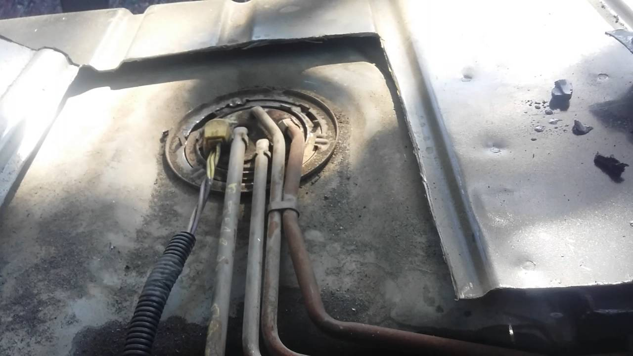easy, lol 88' Camaro fuel pump access and replacement  YouTube