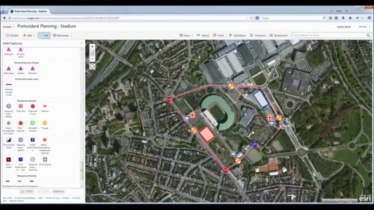 How To Create Maps For The Fire Brigade Services Using Arcgis Online