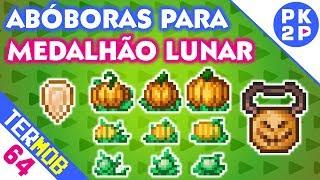 Plantação de Abóbora e Medalhão Lunar • Terraria Mobile #64