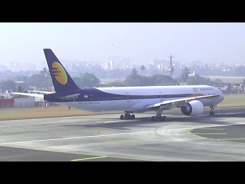 Boeing 777 Spool Up and Takeoff - Jet Airways Mumbai to Singapore