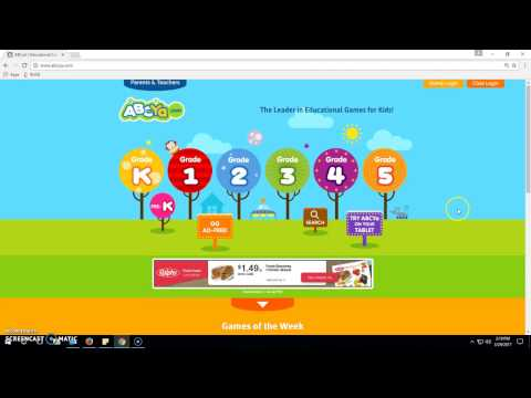 Intro to ABCya.com games!