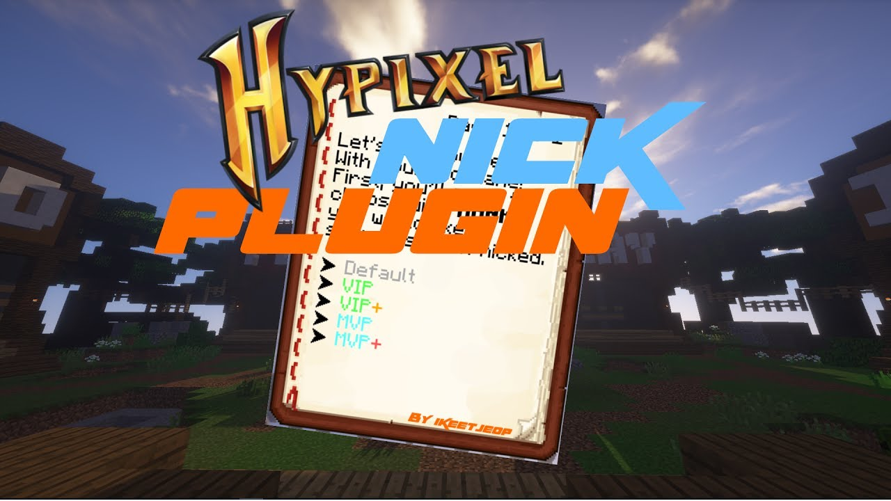 HYPIXEL NICK PLUGIN RELEASE/RECODED!!! FREE DOWNLOAD LINK IN DESCRIPTION  (PLEAS LIKE MY VIDEO)