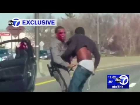 NY State Trooper Left Bloody After Struggling With Suspect During Long Island Traffic Stop