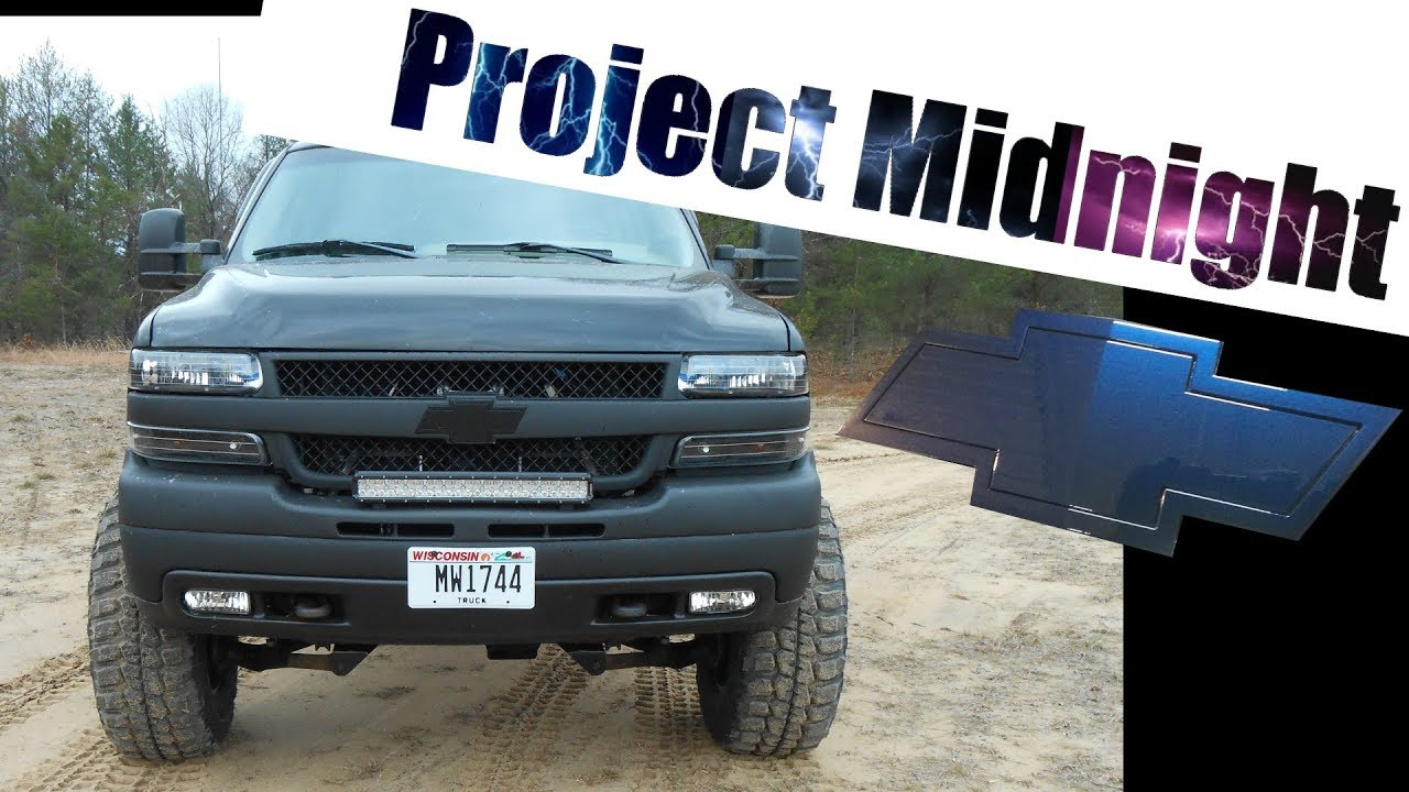 `Project Midnight` Silverado 2500HD Color Reveal & Painting Tailgate