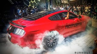 Burnout of Ford Mustang Shelby |എന്നാ പുകയാണോ 😮 |#PFS2018 |Petes Festival of Speed 2018 | SuperCar