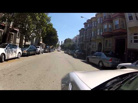 San Francisco drive - parking in North Beach (2013/08/04)