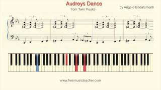 "How To Play Piano: Twin Peaks ""Audreys Dance"" Piano Tutorial by Ramin Yousefi"