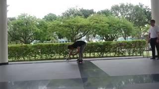 dji mavic pro taking off indoor and fly towards outdoor test