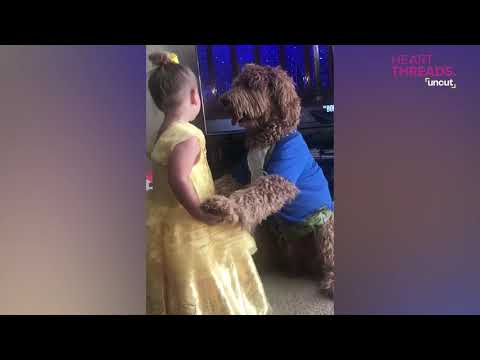Jake Dill - Little Girl and Her Dog Dance as Beauty and the Beast