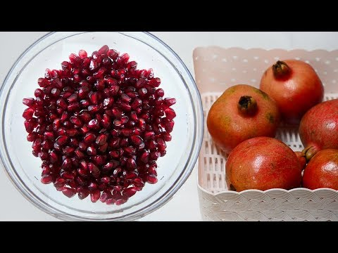How to deseed Pomegranate in seconds   How to Cut and open a Pomegranate