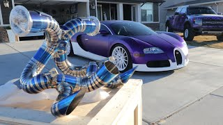 The $38,000 EXHAUST FOR MY BUGATTI VEYRON