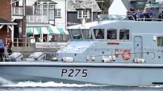 HMS Raider P275 Archer Class Patrol Boat in Dartmouth