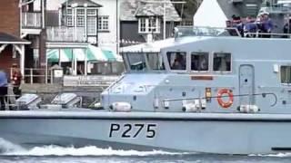 HMS Raider P275 Archer Class Patrol Boat in Dartmouth