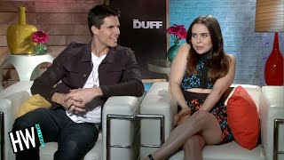 Mae Whitman & Robbie Amell Talk Make Out Scene! (The DUFF) streaming