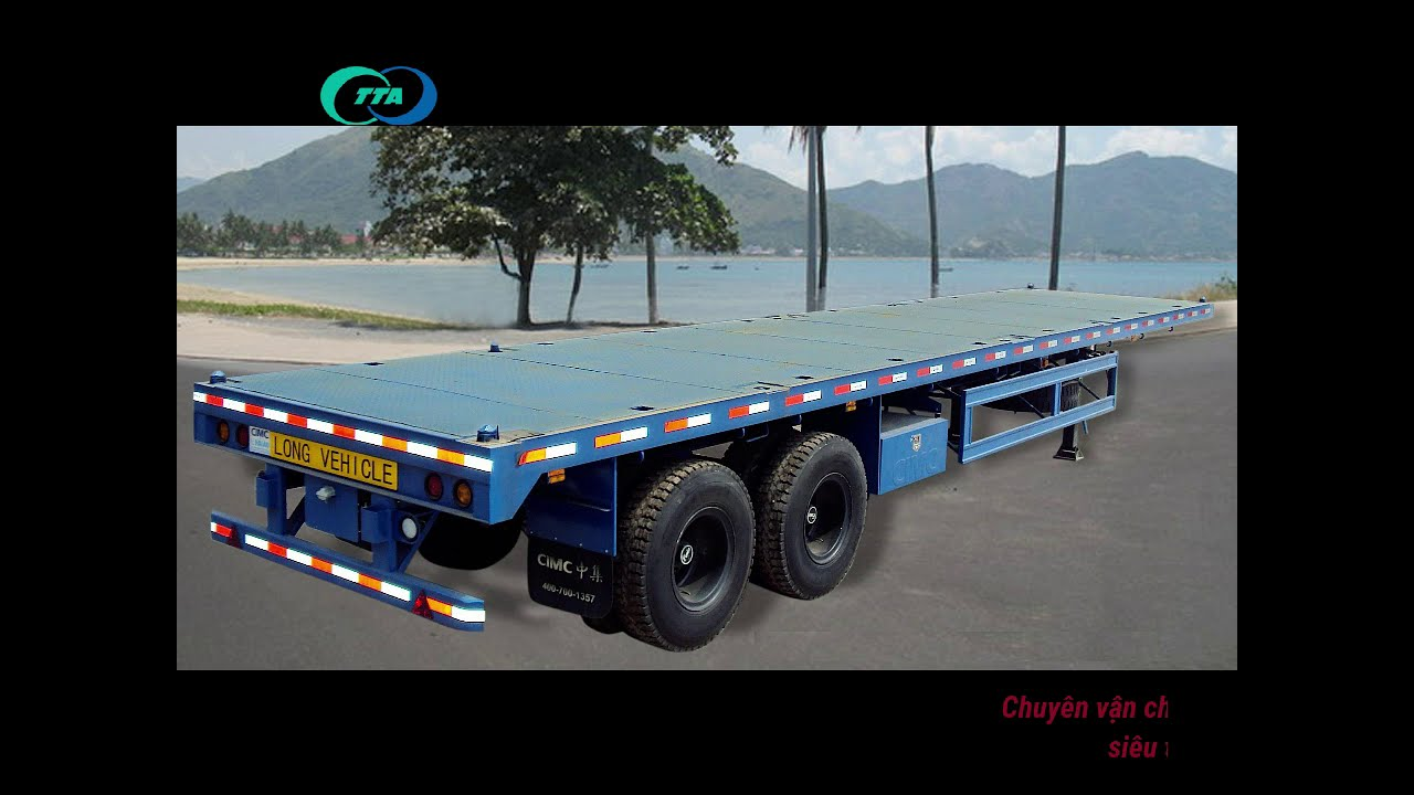 Một số hình ảnh vận chuyển hàng bằng xe mooc lun mooc san của Vận Tải Trọng Tấn