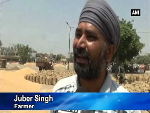Farmers across India demand procurement of wheat crop and adequate compensation