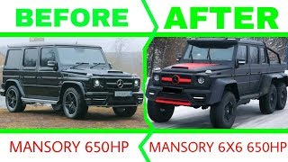 Mercedes G Class Mansory - building a homemade  6x6 in 12 minutes