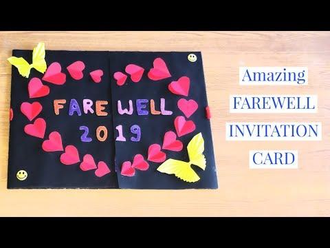 Farewell card tutorial ll birthday card ll handmade greeting ll valentine card ll craft craze 😍