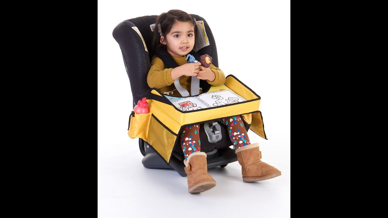 Review Of Kids Travel Snack And Play Car Seat Tray For
