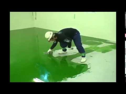 Entreprise r sine epoxy et peinture epoxy youtube for Peinture de sol v