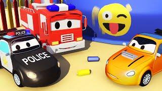 Patrol Policyjny wóz strażacki i radiowózi Podejrzany Tyler |Samochody i Ciężarówki bajki dla dzieci